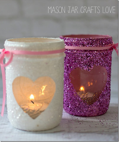 Glitter Jars, Decorating Your Ice Cream Shop for Valentine's Day