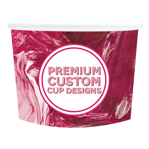 Premium USA made Custom Ice Cream Cups