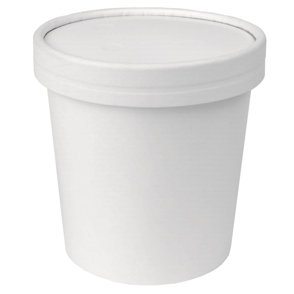 UNIQ® Pint 16 oz Ice Cream To Go Containers With Non-Vented Lids