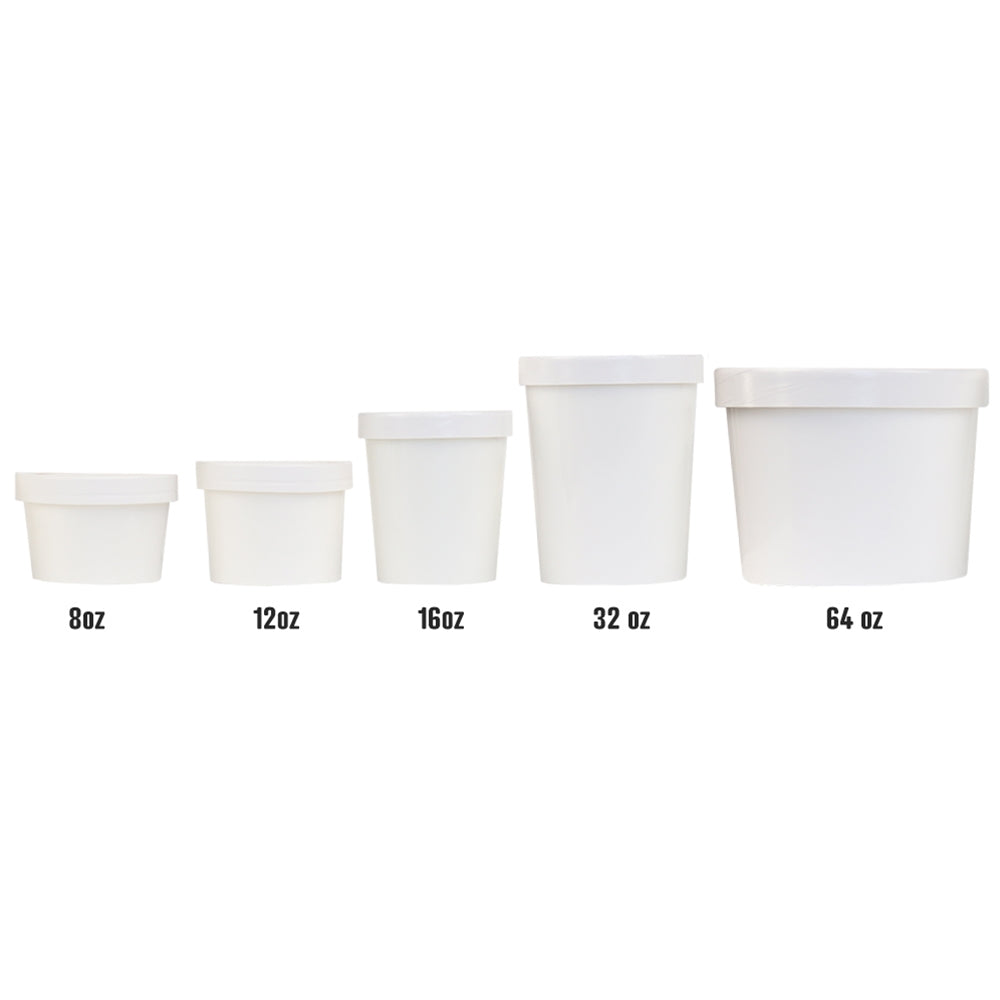 Pint 16 oz Premium Ice Cream To Go Containers With Non-Vented Lids