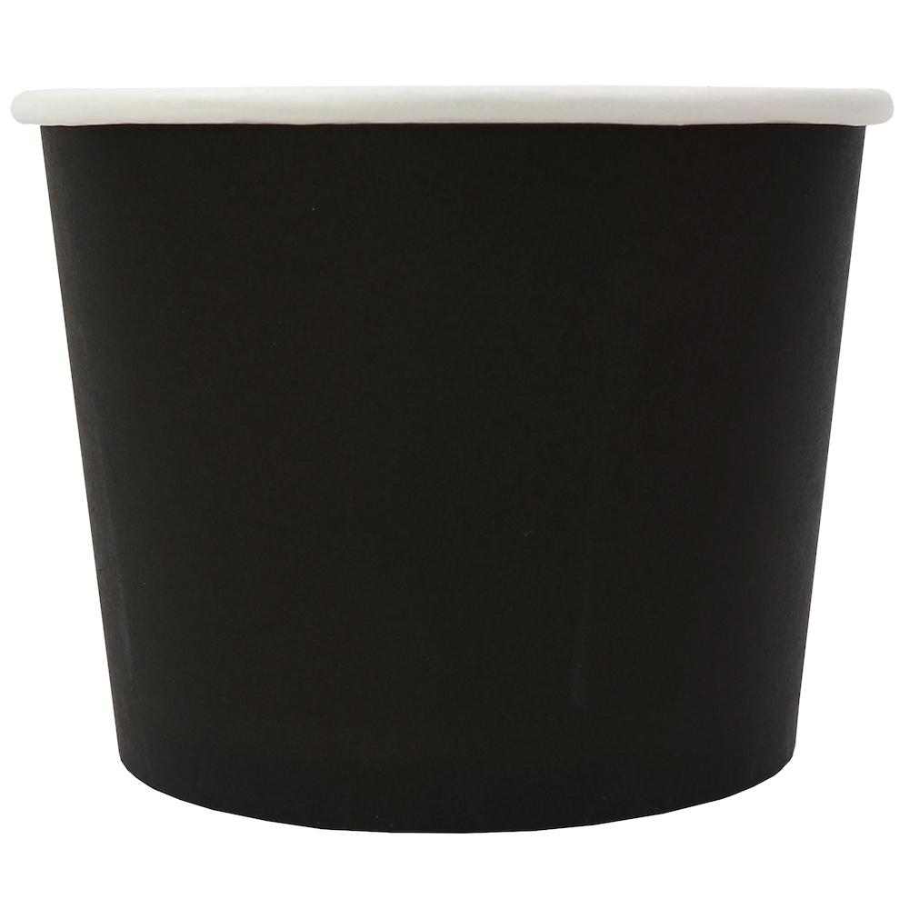 UNIQ® 12 oz Black Eco-Friendly Compostable Ice Cream Cups