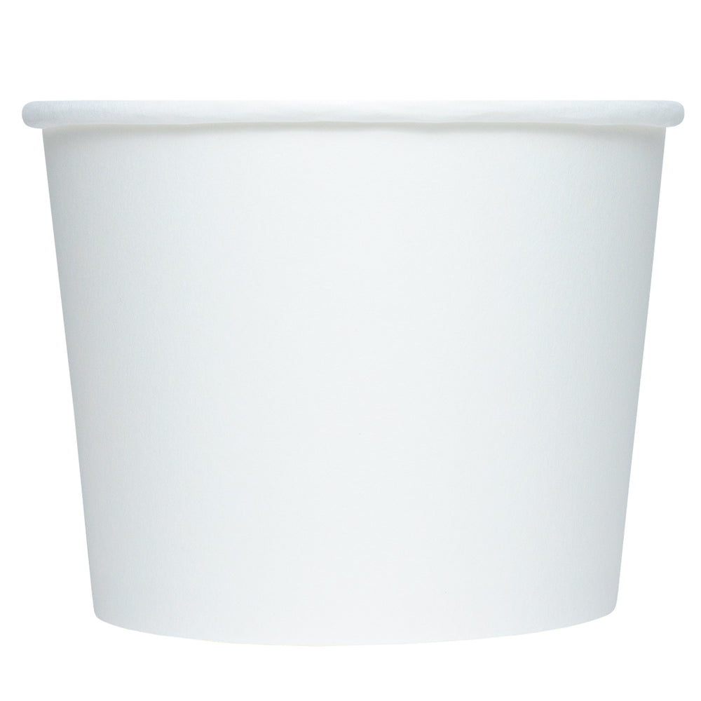 UNIQ® 12 oz White Eco-Friendly Compostable Ice Cream Cups