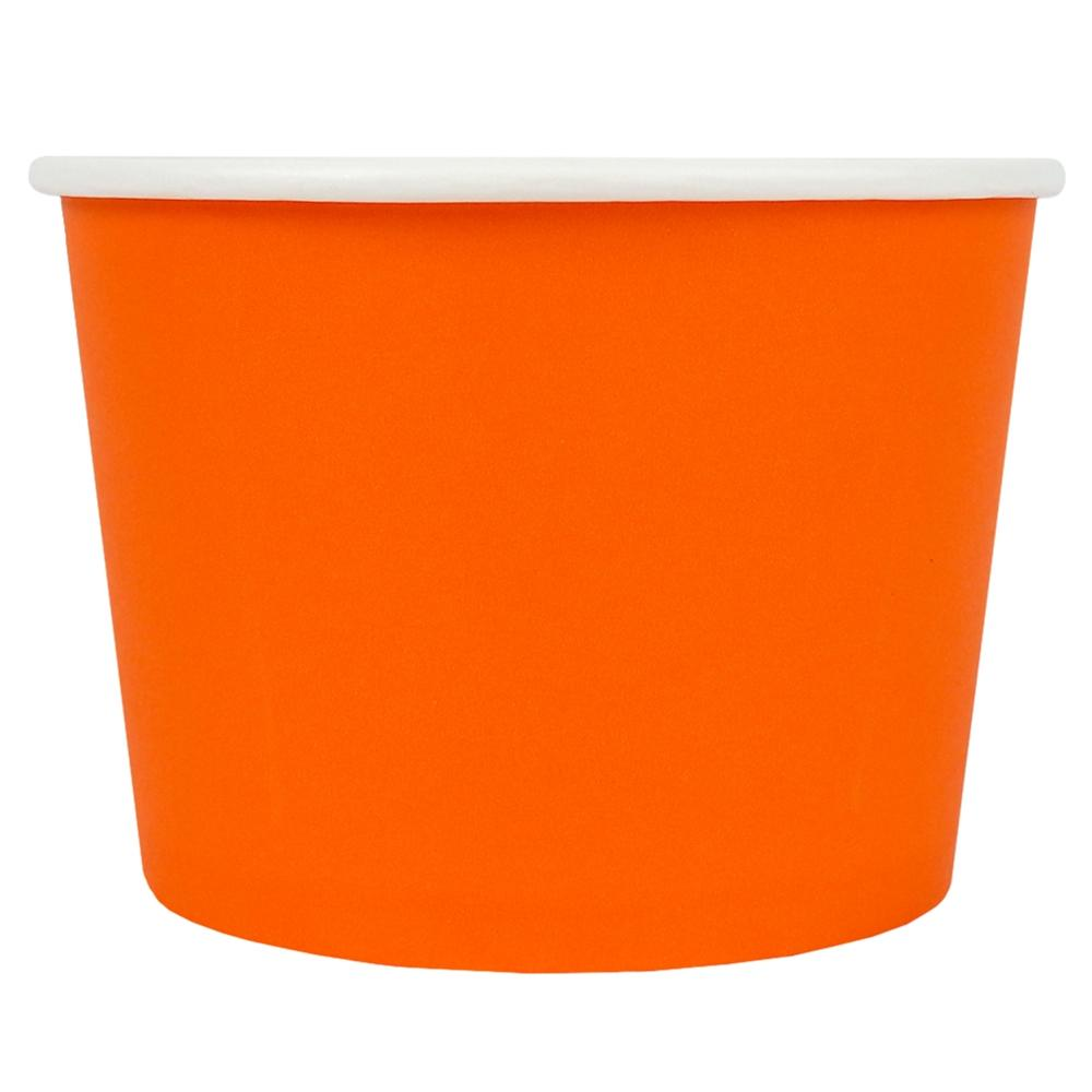 UNIQ® 12 oz Orange Eco-Friendly Compostable Ice Cream Cups
