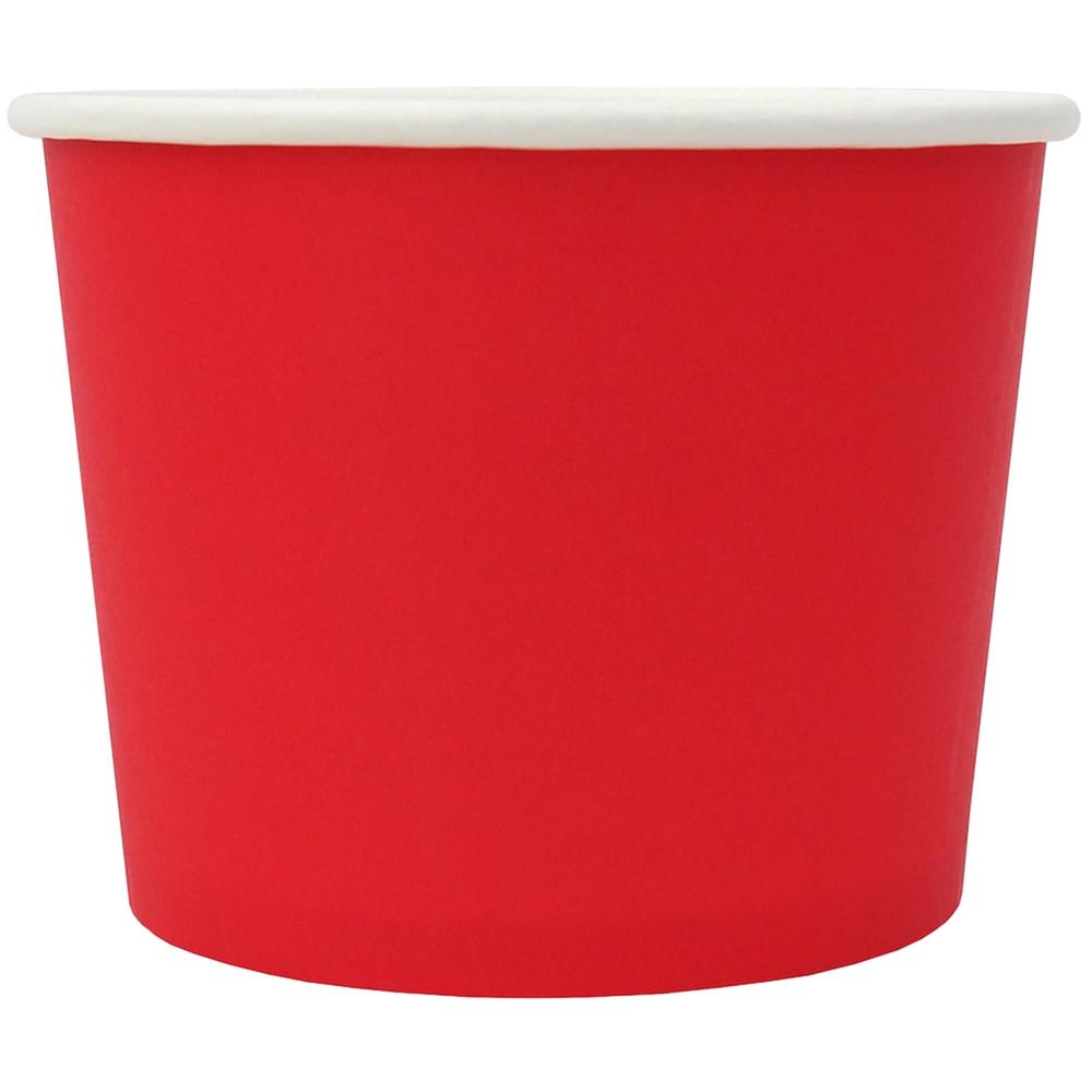 UNIQ® 12 oz Red Eco-Friendly Compostable Ice Cream Cups