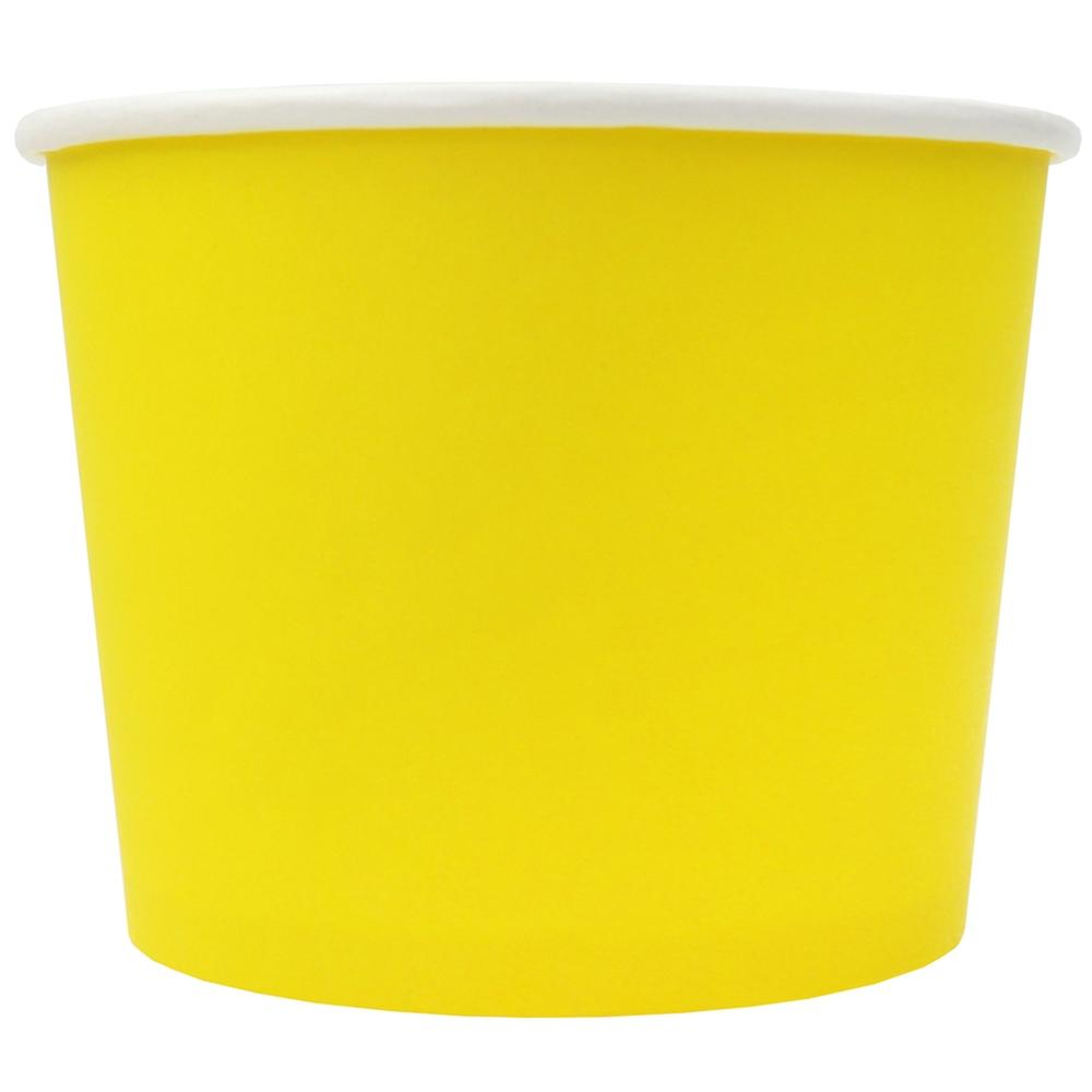 UNIQ® 12 oz Yellow Eco-Friendly Compostable Ice Cream Cups