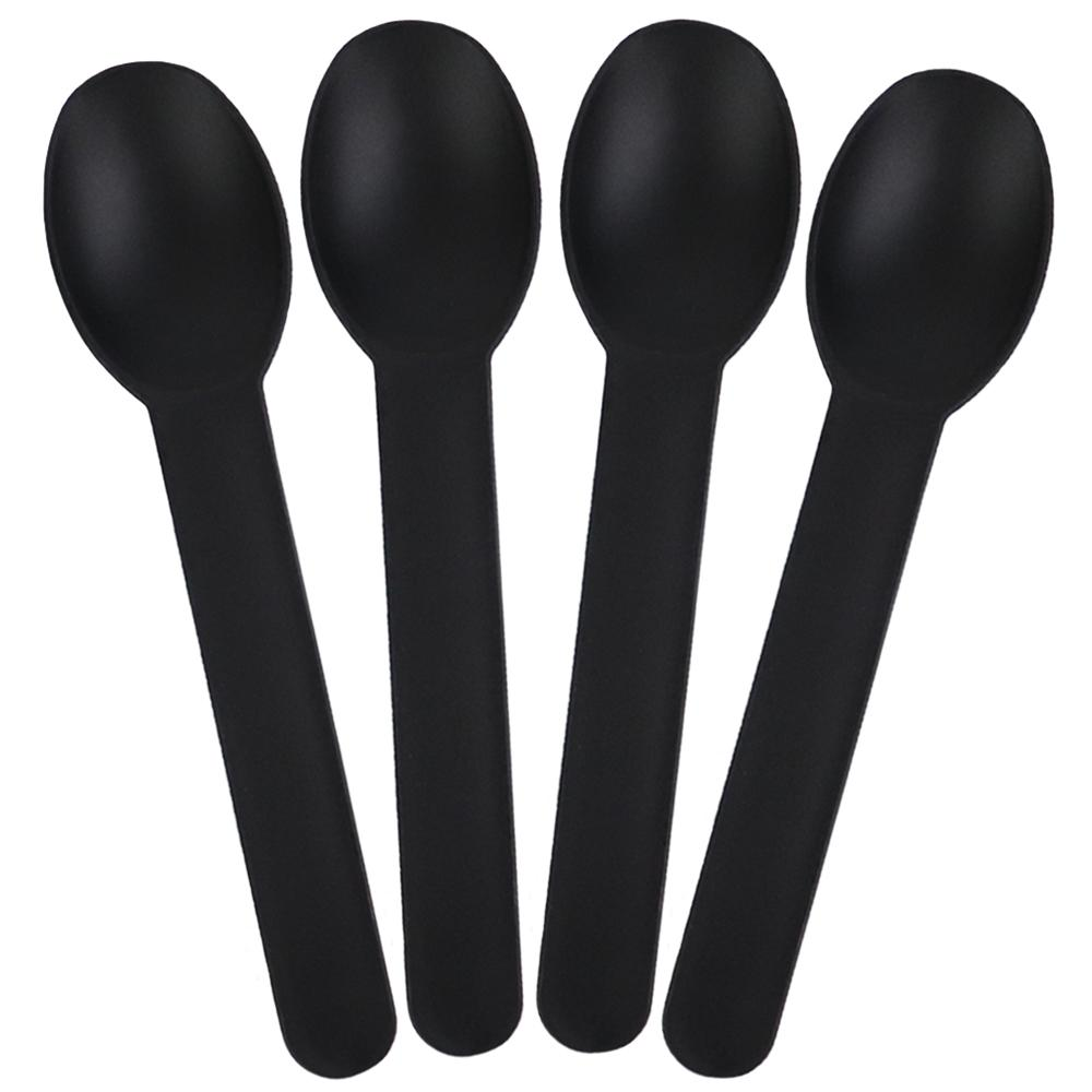UNIQ® Black Heavy Duty Frozen Yogurt Spoons