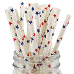UNIQ® Red and Blue Star Paper Straws