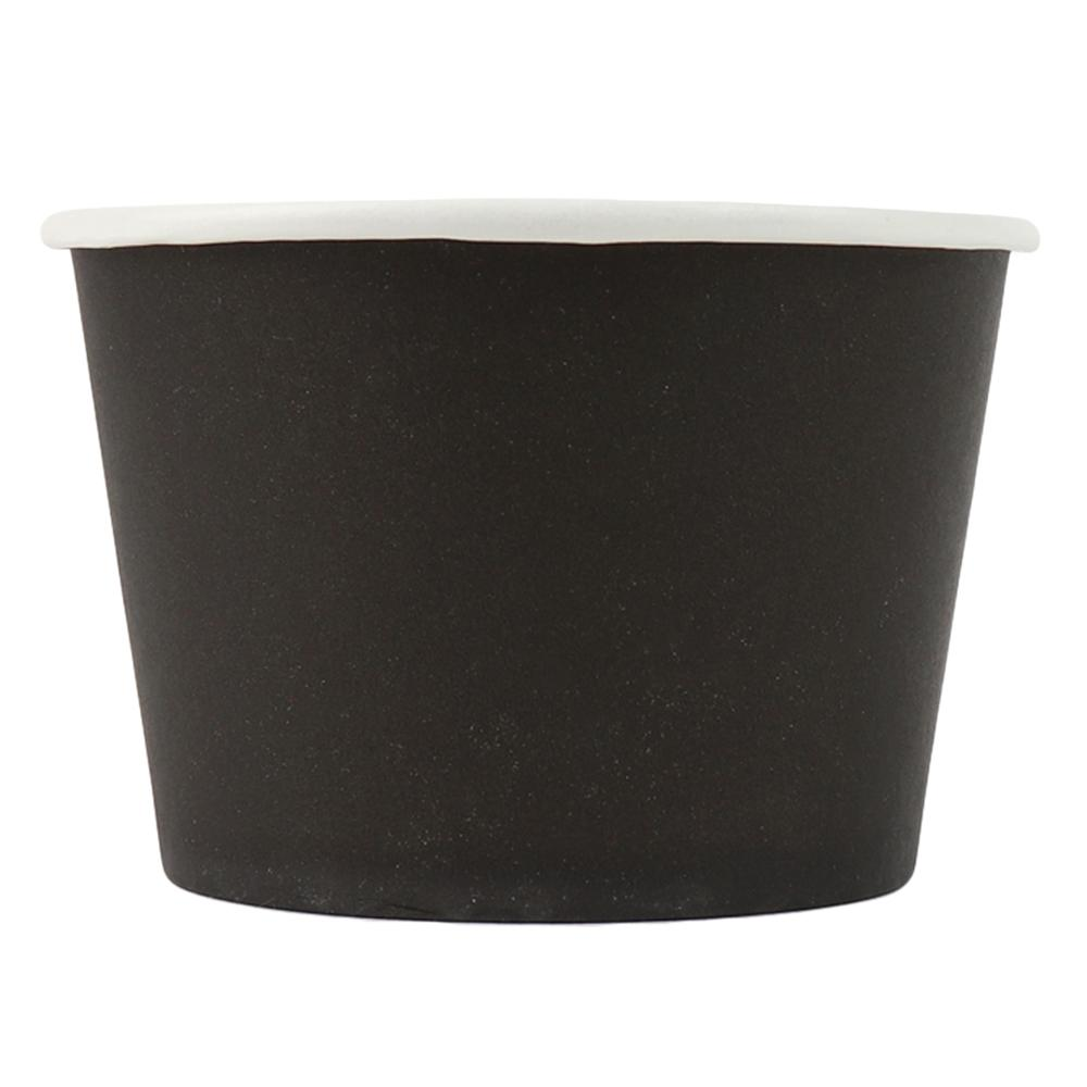 UNIQ® 8 oz Black Eco-Friendly Compostable Ice Cream Cups