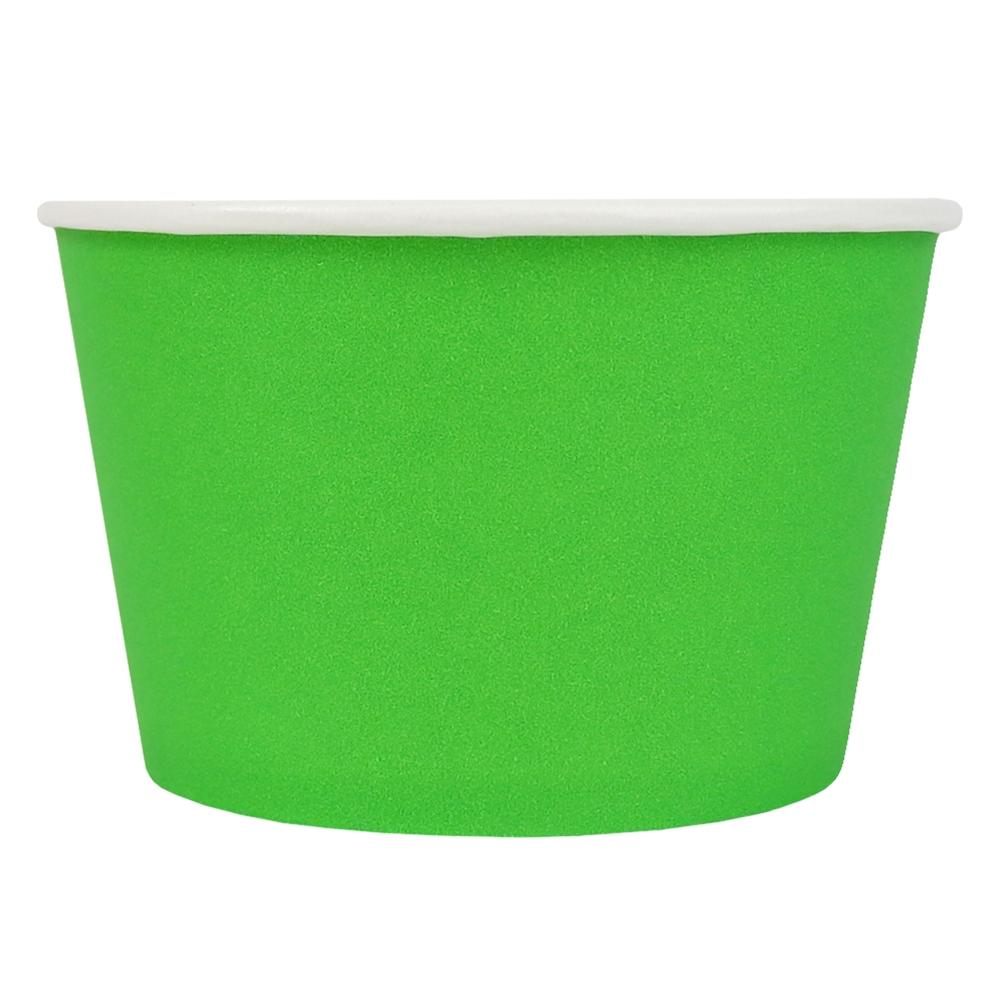 UNIQ® 8 oz Green Eco-Friendly Compostable Ice Cream Cups