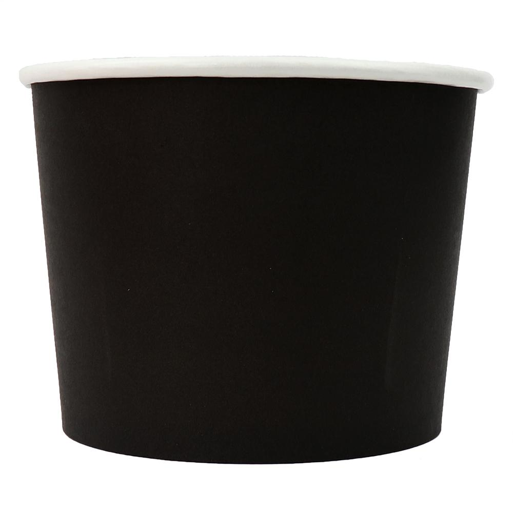UNIQ® 16 oz Black Eco-Friendly Compostable Ice Cream Cups