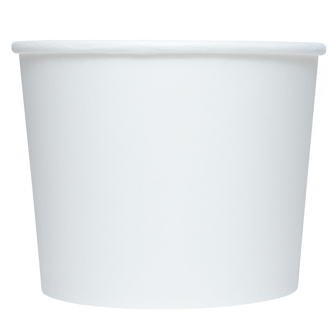 Party Cups 4 oz White Eco-Friendly Compostable Ice Cream Cups Paper Bowls