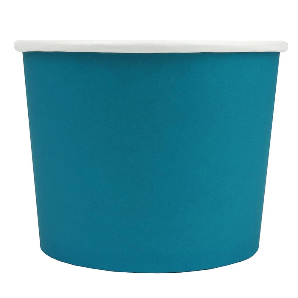 UNIQ® 16 oz Blue Eco-Friendly Compostable Ice Cream Cups