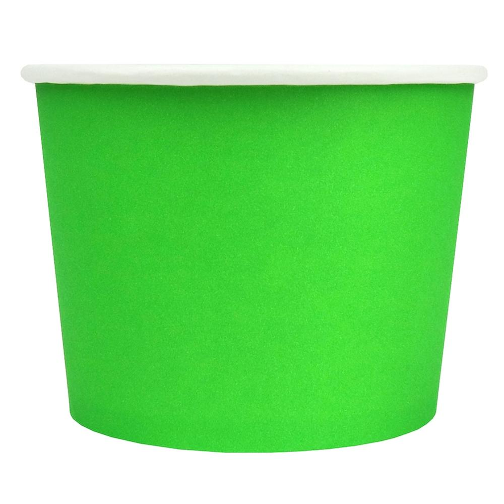 UNIQ® 16 oz Green Eco-Friendly Compostable Ice Cream Cups