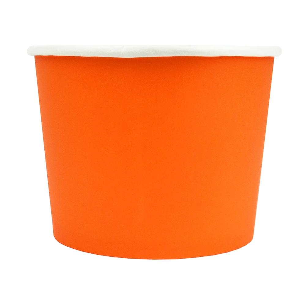 UNIQ® 16 oz Orange Eco-Friendly Compostable Ice Cream Cups