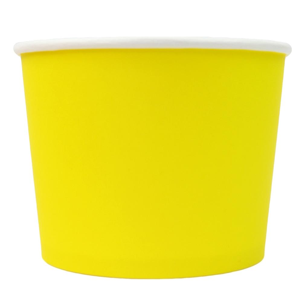 UNIQ® 16 oz Yellow Eco-Friendly Compostable Ice Cream Cups