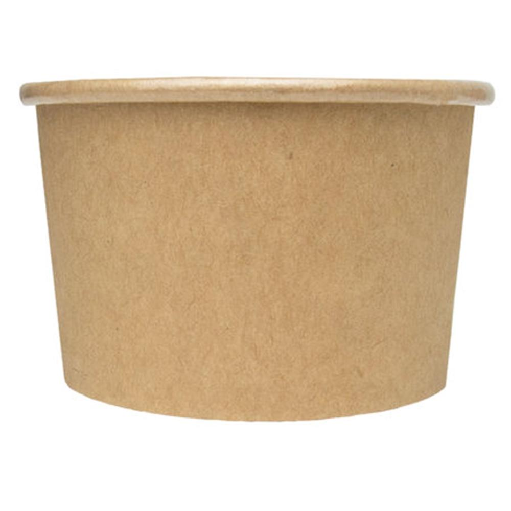UNIQ® 4 oz Kraft Compostable Ice Cream Cups