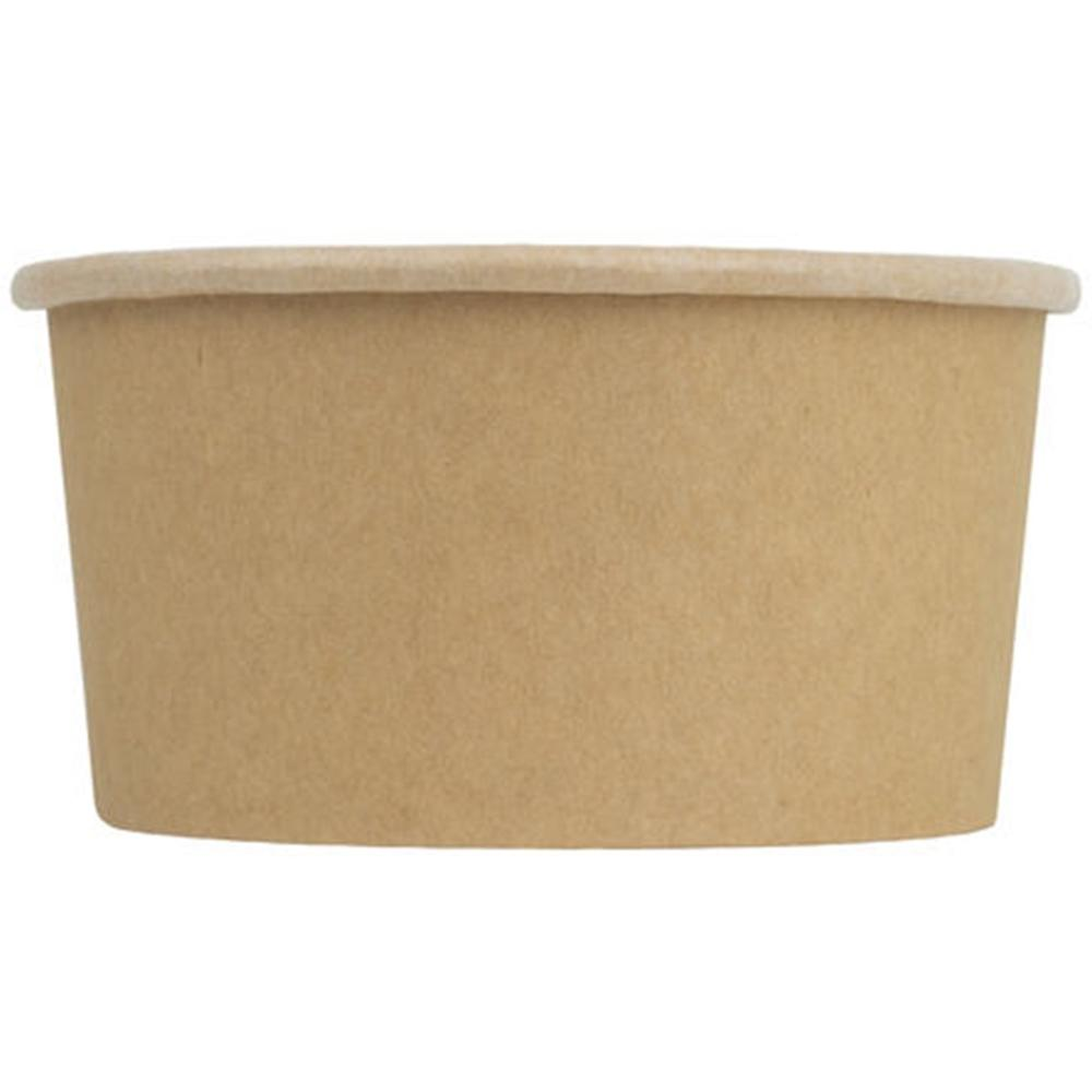 UNIQ® 6 oz Kraft Compostable Ice Cream Cups