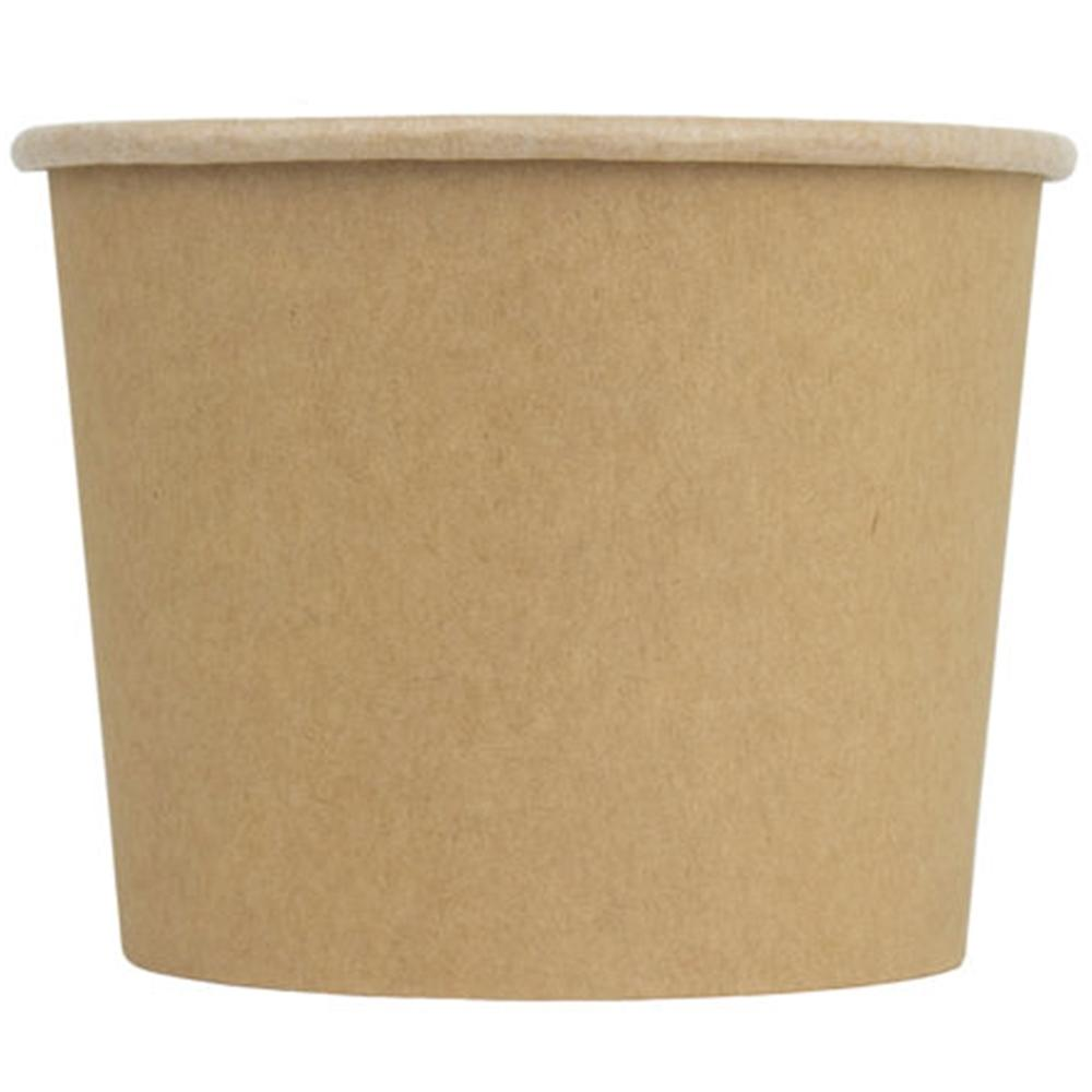 UNIQ® 12 oz Kraft Compostable Ice Cream Cups