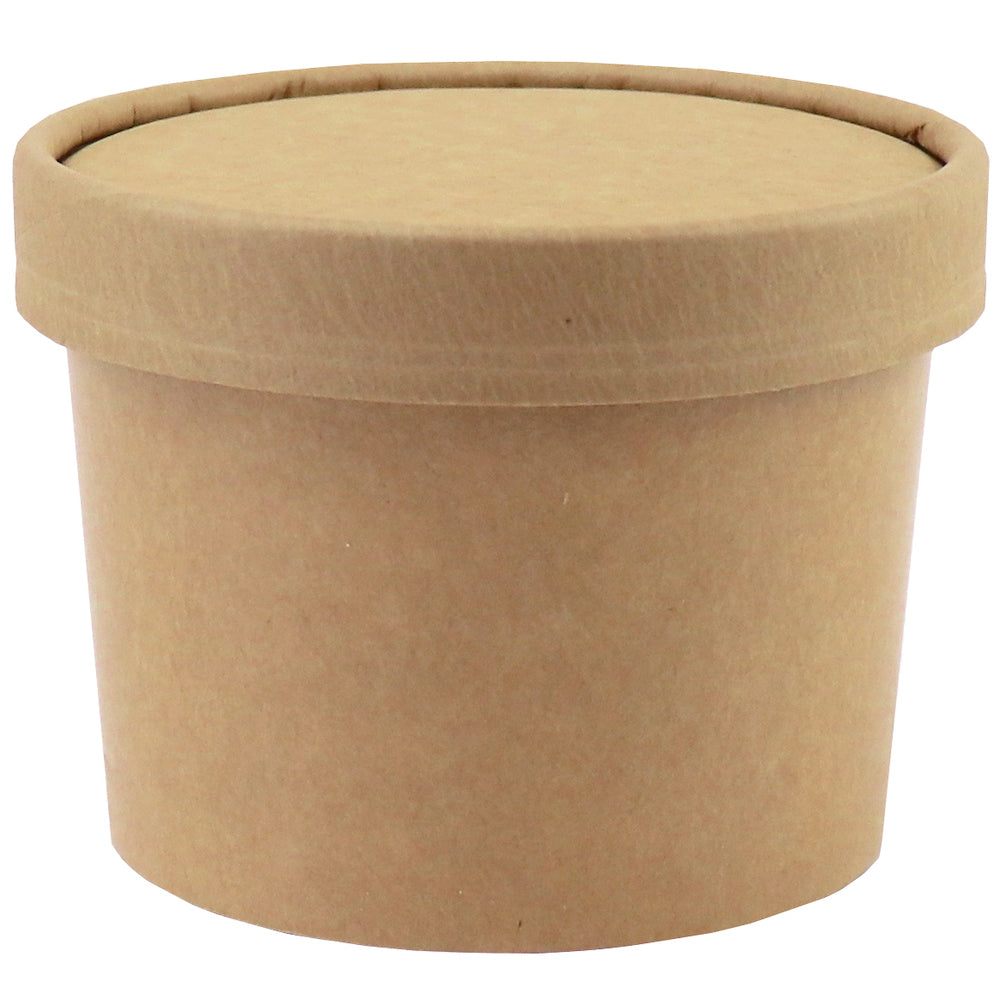 UNIQ™ 12 oz Kraft Ice Cream To Go Containers With Non-Vented Lids