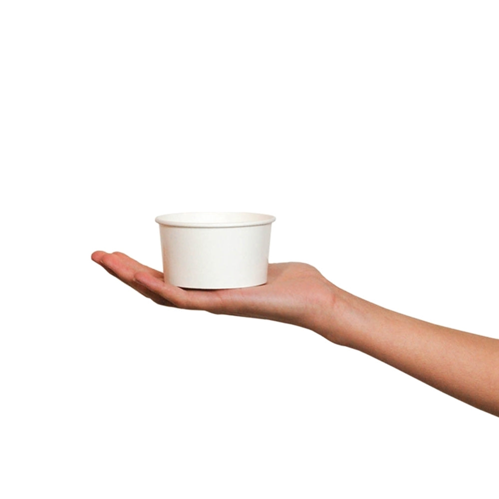 UNIQ® 6 oz White Eco-Friendly Compostable Ice Cream Cups