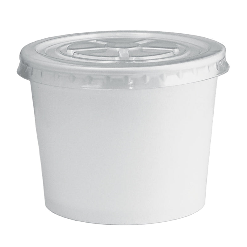 UNIQ® 12 oz Clear Flat Ice Cream Cup Lids