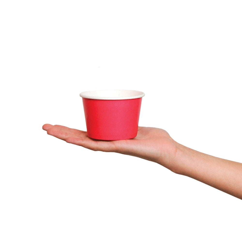 UNIQ® 8 oz Pink Eco-Friendly Compostable Ice Cream Cups