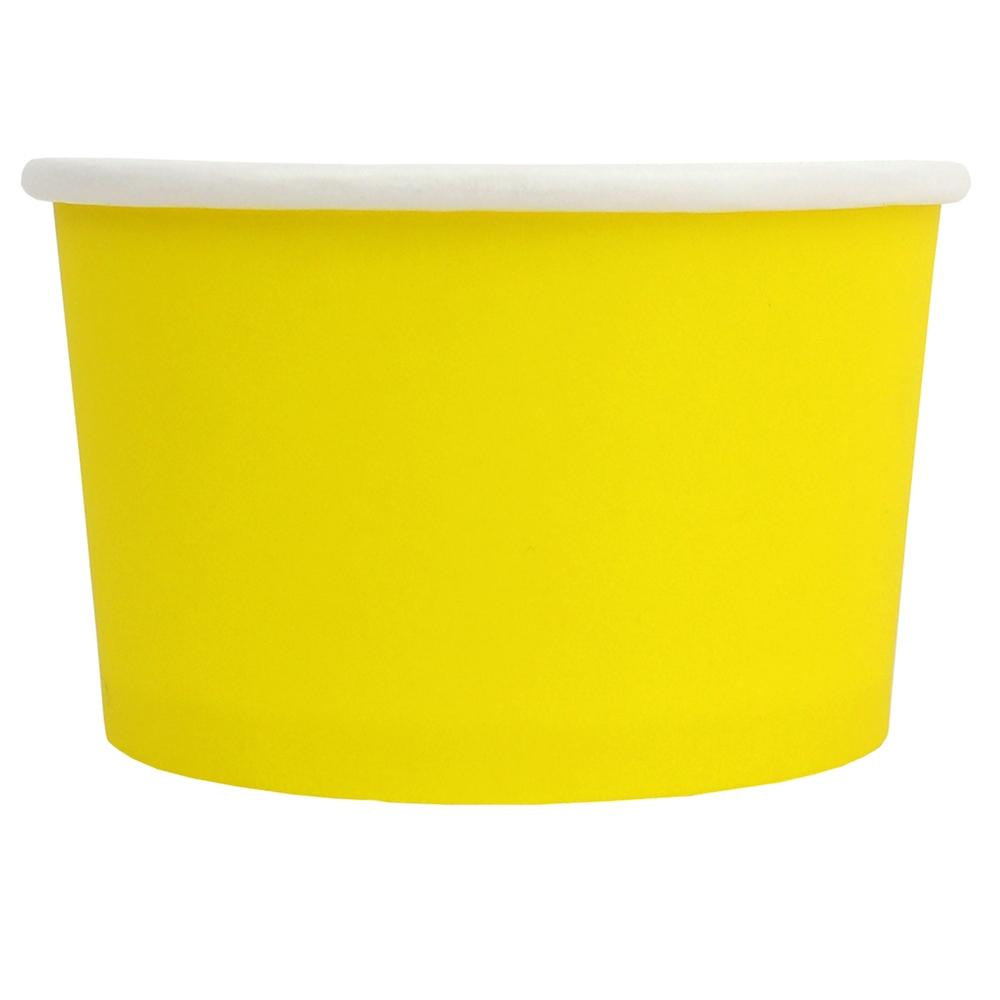 UNIQ® 4 oz Yellow Eco-Friendly Compostable Ice Cream Cups