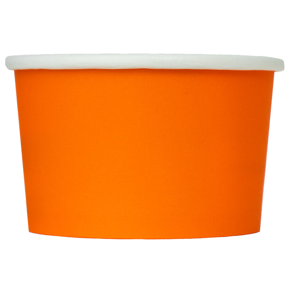 UNIQ® 4 oz Orange Eco-Friendly Compostable Ice Cream Cups