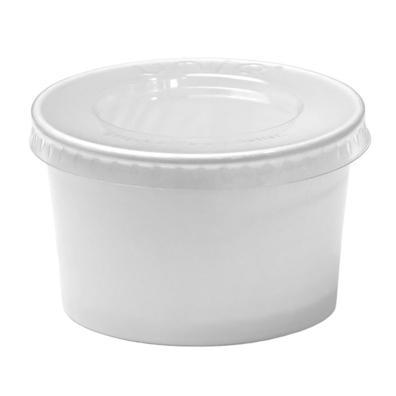 UNIQ® 4 oz Clear Flat Ice Cream Cup Lids