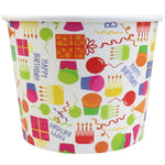 UNIQ® 12 oz Happy Birthday Ice Cream Cups