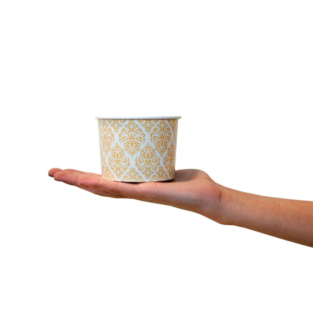 UNIQ® 12 oz Elegant Gold Ice Cream Cups