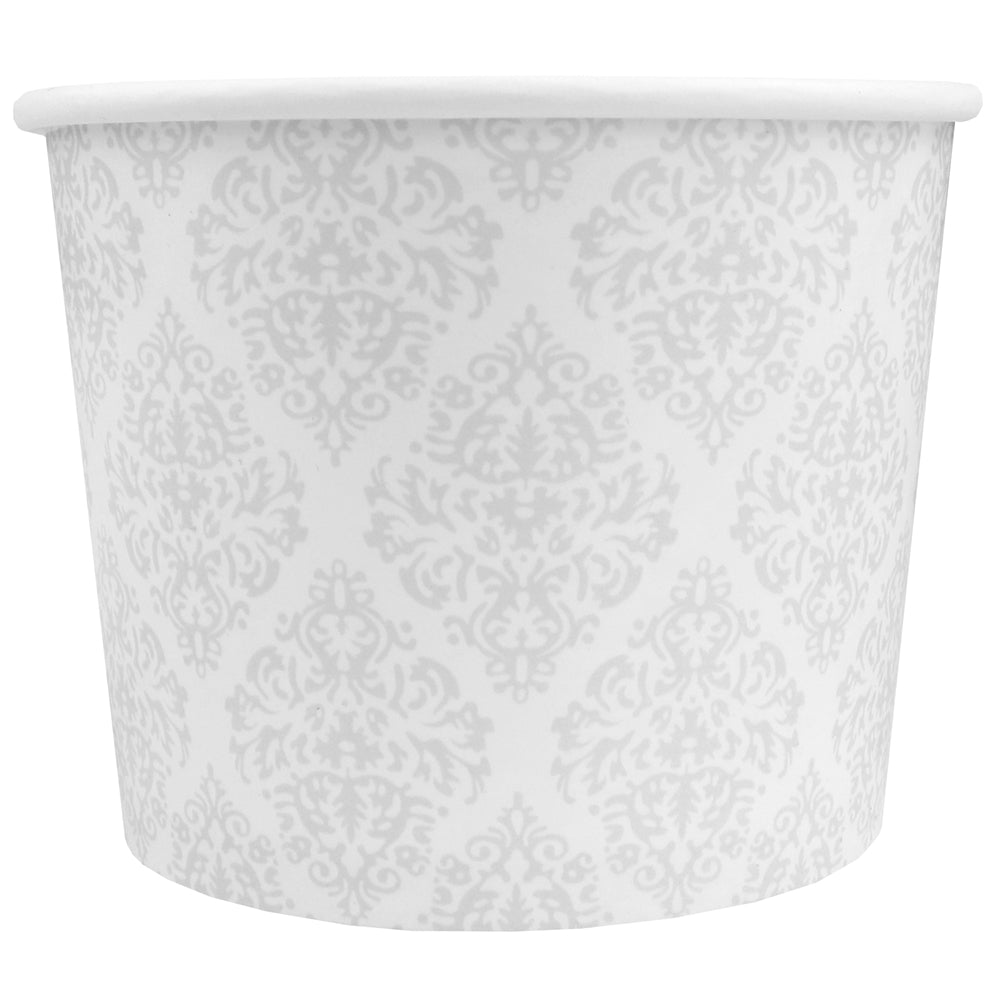 UNIQ® 12 oz Elegant Silver Ice Cream Cups