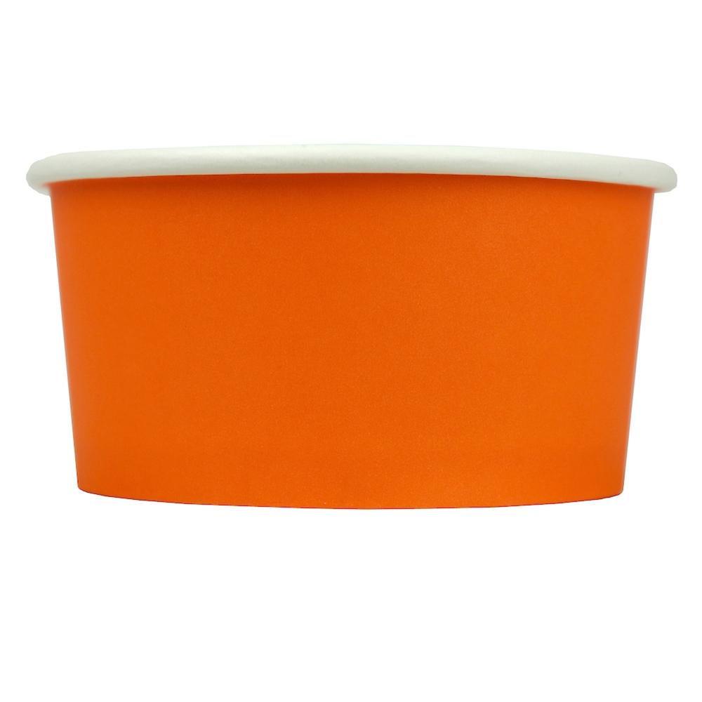 UNIQ® 6 oz Orange Eco-Friendly Compostable Ice Cream Cups