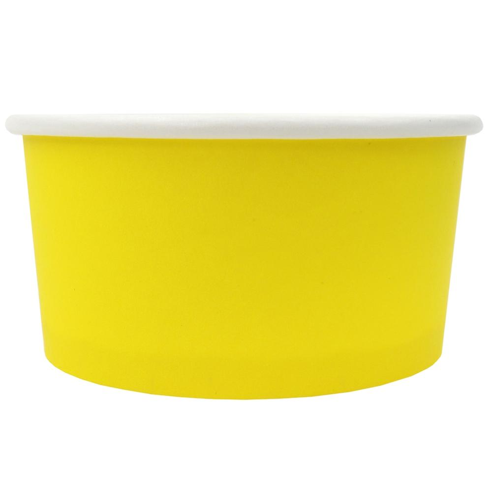 UNIQ® 6 oz Yellow Eco-Friendly Compostable Ice Cream Cups