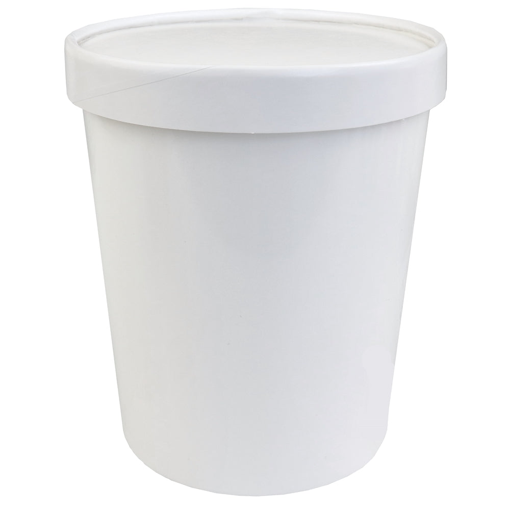 Quart 32 oz Premium Ice Cream To Go Containers With Non-Vented Lids