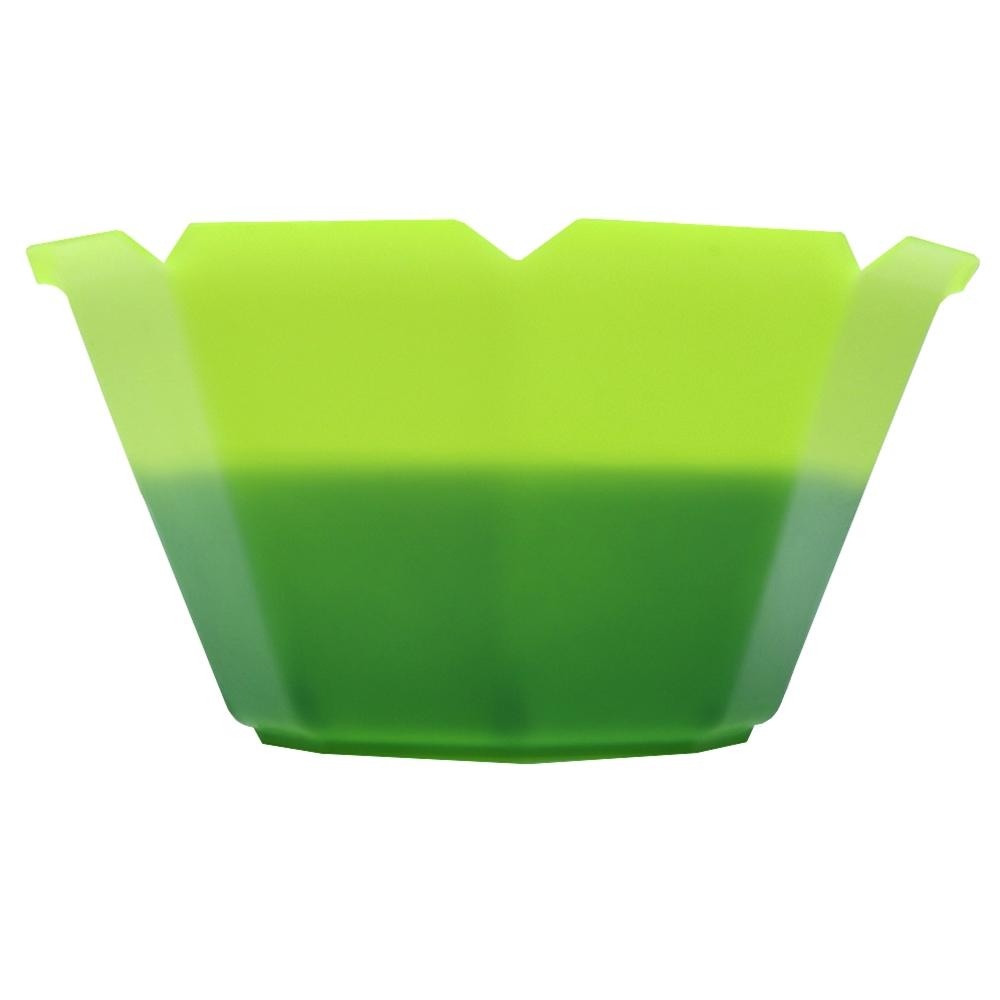 UNIQ® Petali 3 oz Color Changing Gelato Cups - Neon Green to Green