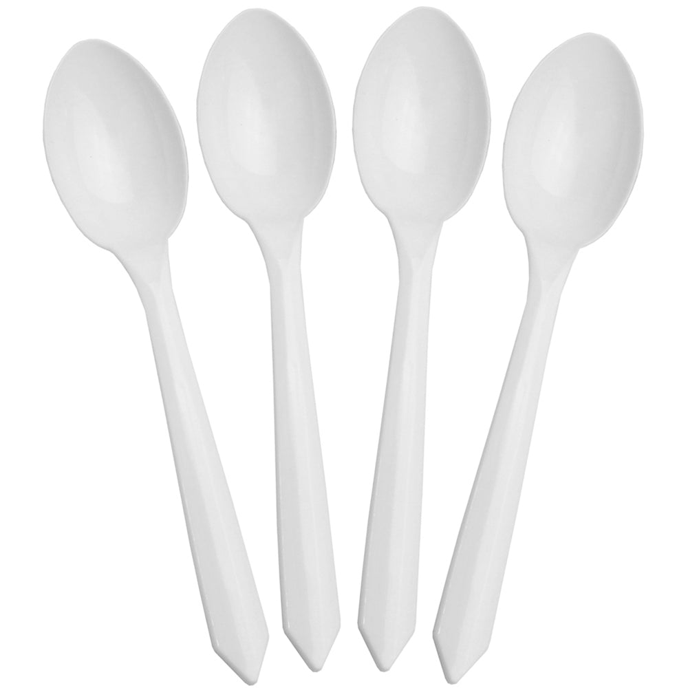 UNIQ® White Dessert Ice Cream Spoons