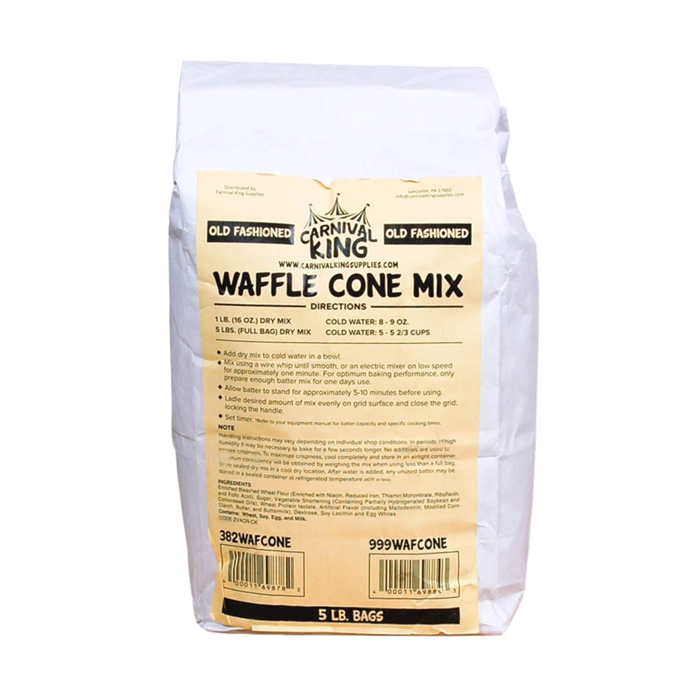 Old Fashioned Waffle Cone Mix - 5 lb Bag