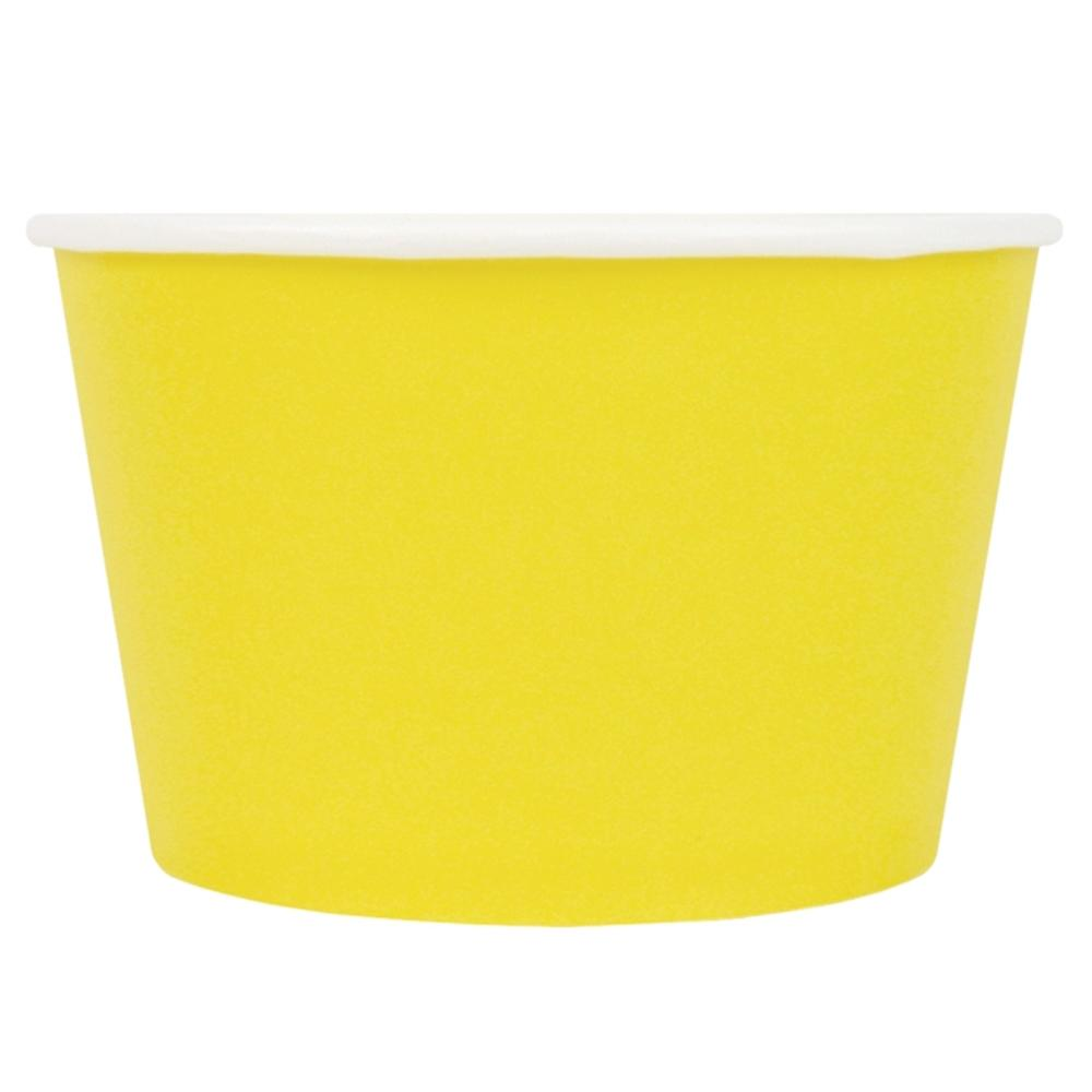 UNIQ® 8 oz Yellow Eco-Friendly Compostable Ice Cream Cups