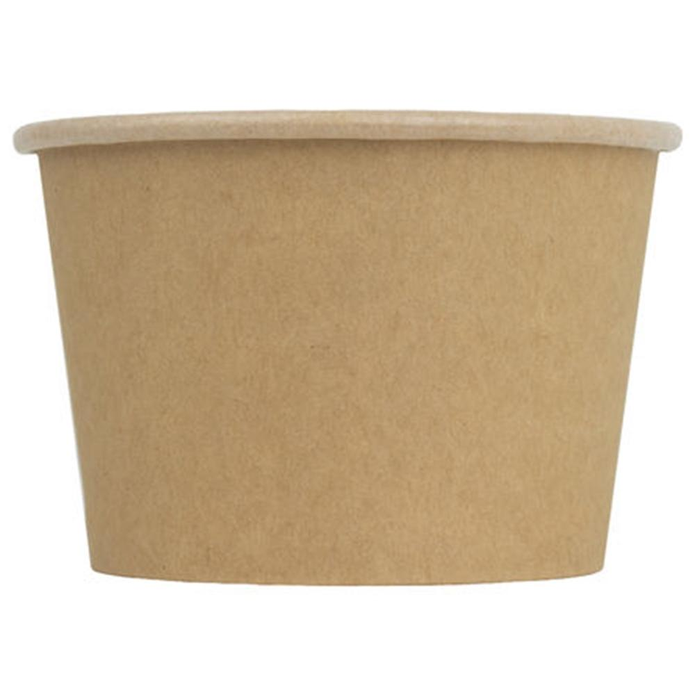 UNIQ® 8 oz Kraft Compostable Ice Cream Cups