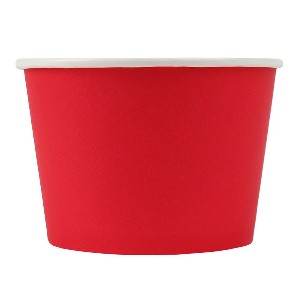 UNIQ® 8 oz Red Eco-Friendly Compostable Ice Cream Cups