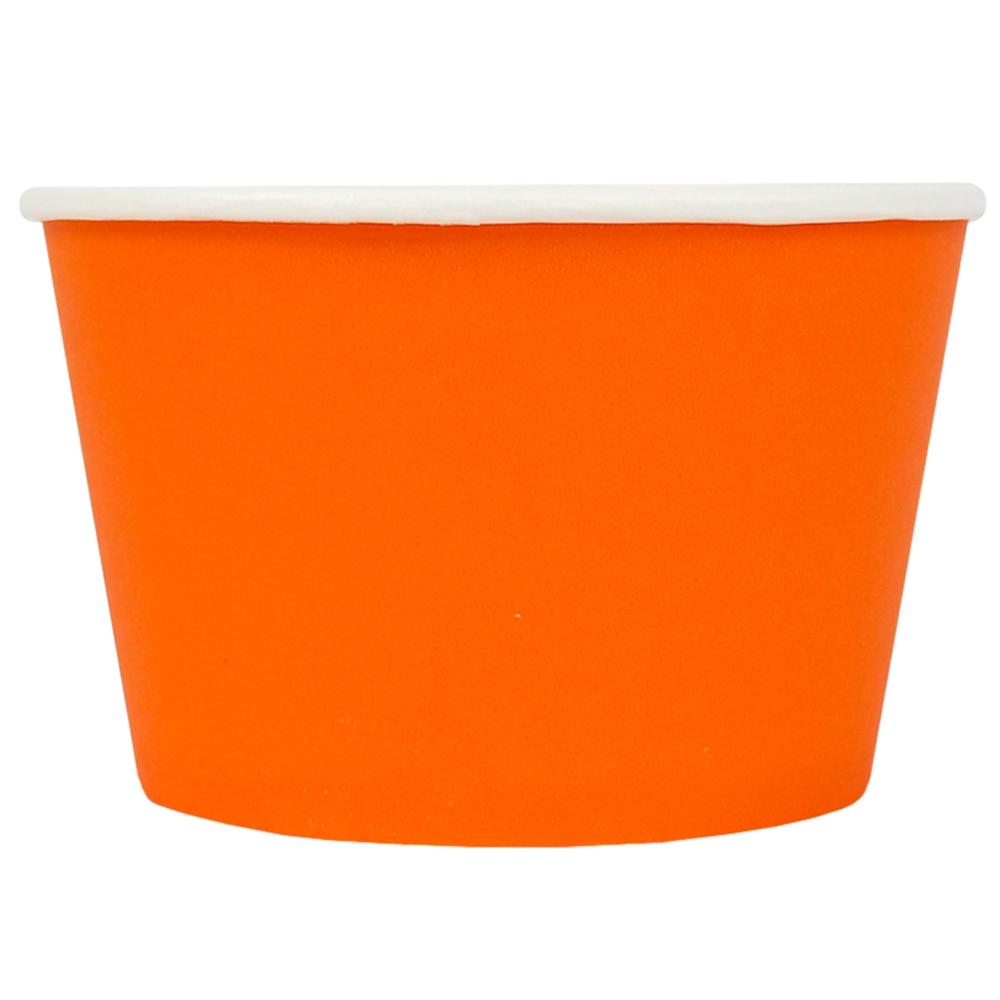 UNIQ® 8 oz Orange Eco-Friendly Compostable Ice Cream Cups