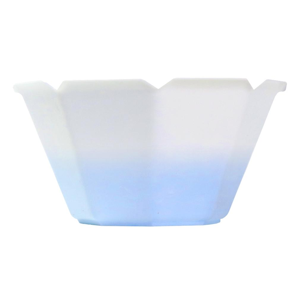 UNIQ® Petali 3 oz Color Changing Gelato Cups - White to Blue