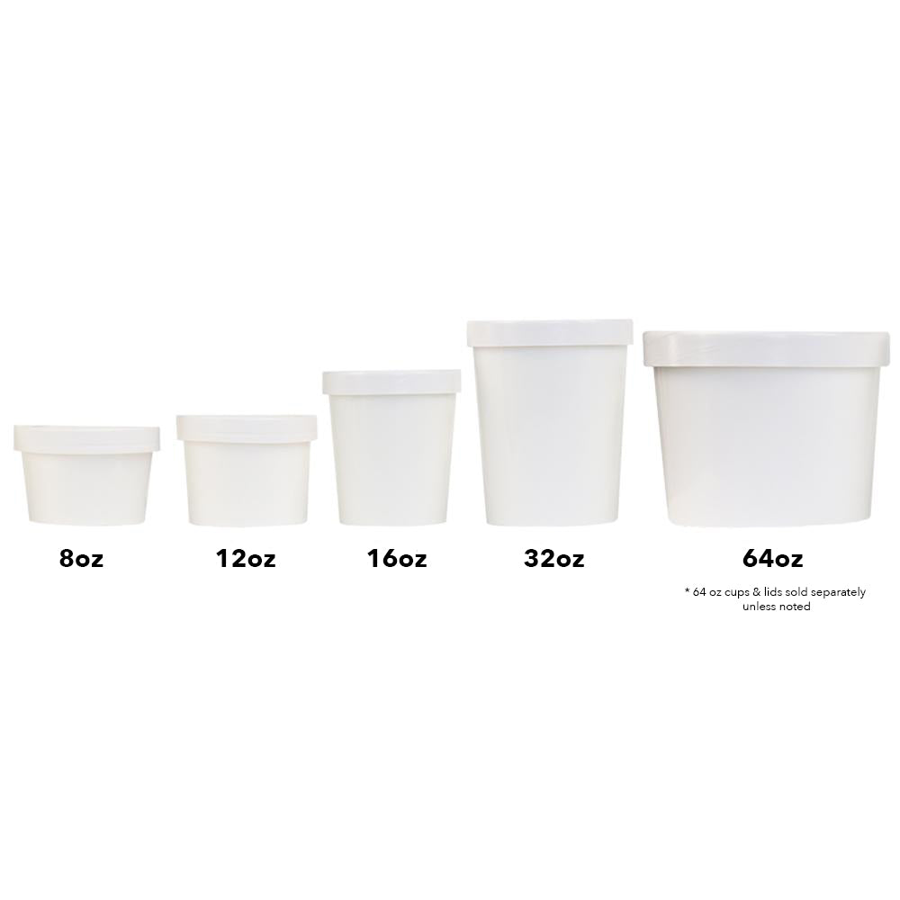 Ice Cream To Go Containers Quart 32 Oz Frozen Dessert Supplies