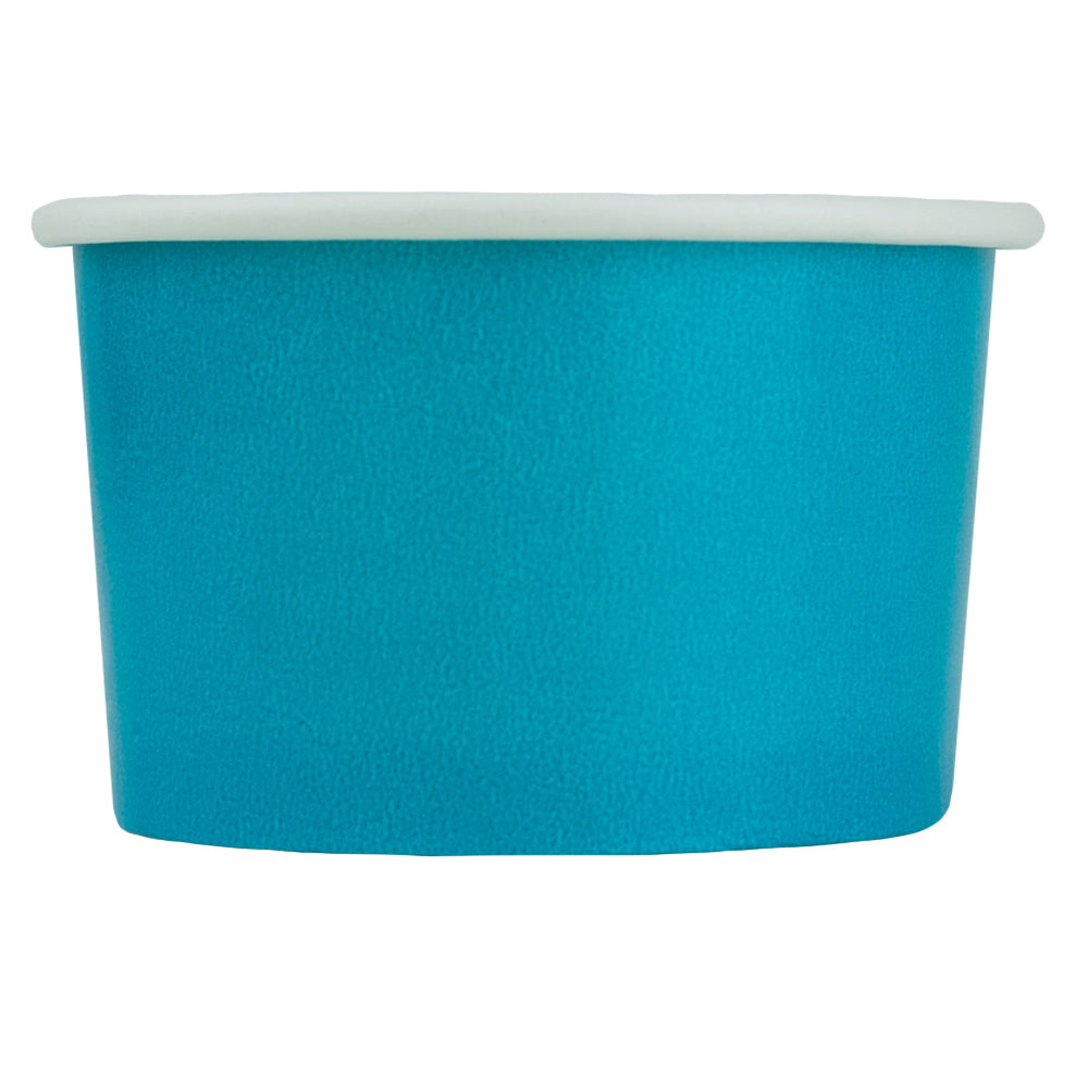 UNIQ® 4 oz Blue Eco-Friendly Compostable Ice Cream Cups