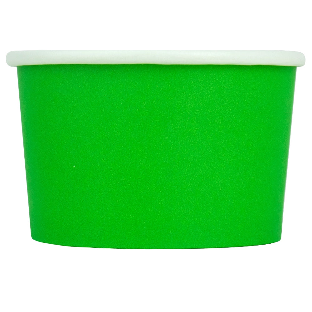 UNIQ® 4 oz Green Eco-Friendly Compostable Ice Cream Cups