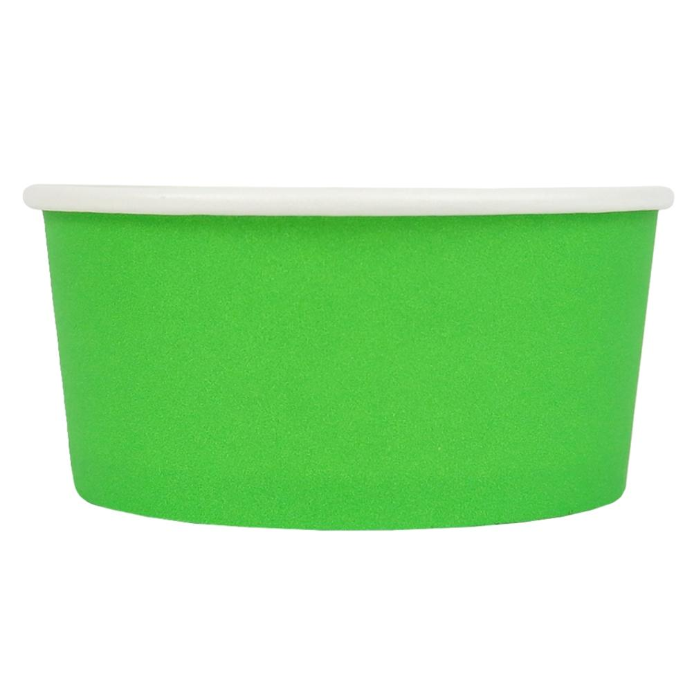 UNIQ® 6 oz Green Eco-Friendly Compostable Ice Cream Cups