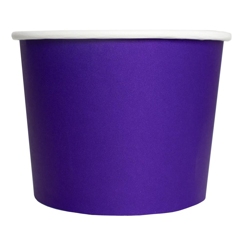 UNIQ® 16 oz Purple Eco-Friendly Compostable Ice Cream Cups