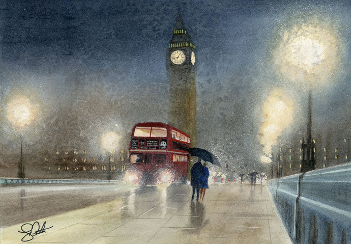 London painting of Big Ben