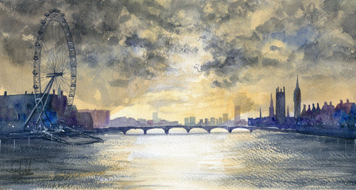 River thames painting stormy